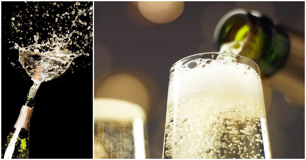 Champagne vs Prosecco for New Years - cork pop, drink pouring – Haskells