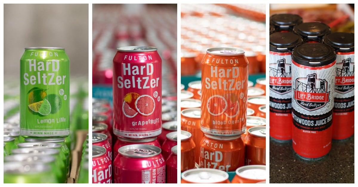 Hard seltzers in cans (Fulton, Lift Bridge) – Haskells