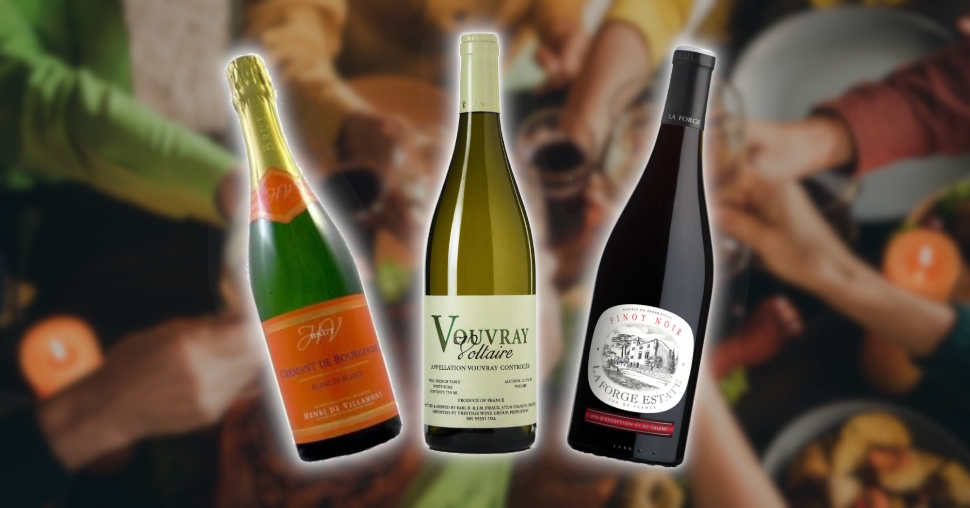 Three Affordable Wines for Thanksgiving - Cremant, Vouvray Voltaire, La Forge Pinot Noir